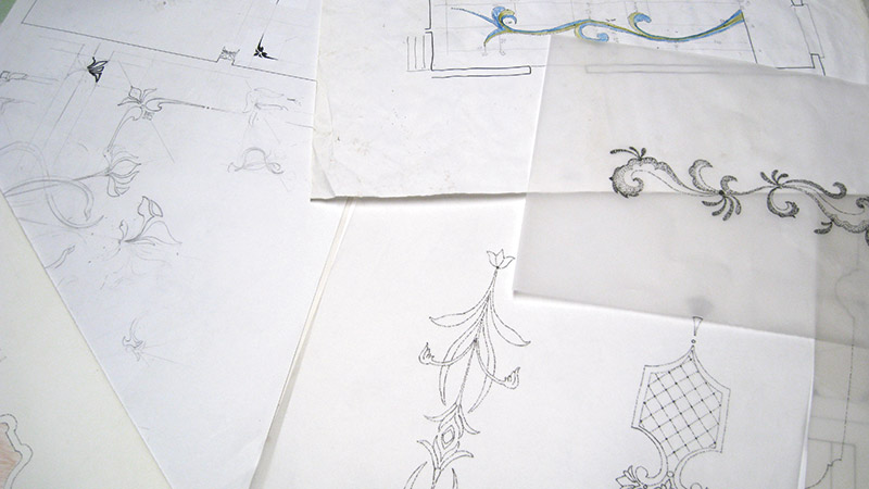 2. Sketches for decorative elements