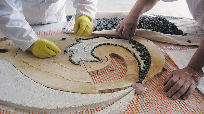 4. Creation of a decorative element with template wood